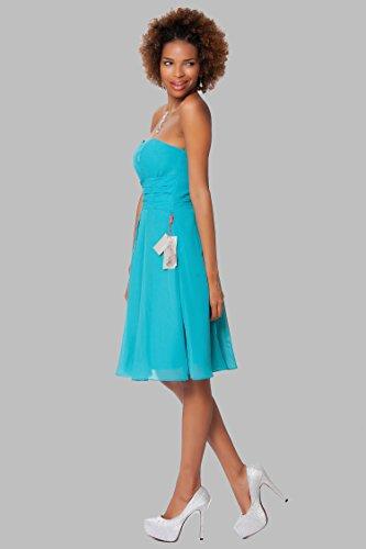 SEXYHER Gorgeous vestido damas rodilla de las Hasta la sin de COJ1513 Turquesa honor c¨®ctel tirantes rrTwd7
