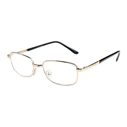 Meijunter Fashion Super Light Reading Glasses Women Men Vintage Round Metal Frame Glass Lens Reading glasses 1.0 1.5 2.0 2.5 3.0 3.5 4.0 4.5 5.0 5.5 - Need You Sunglasses I