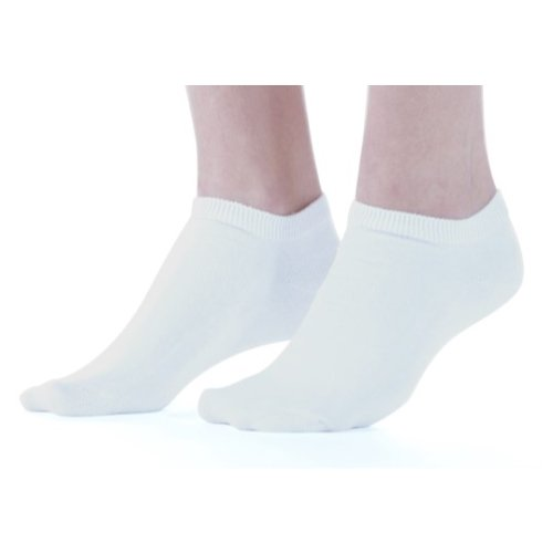 3 Pair Women's White Buster Brown Low Cut Cotton Socks - Fits Shoe Sizes ()