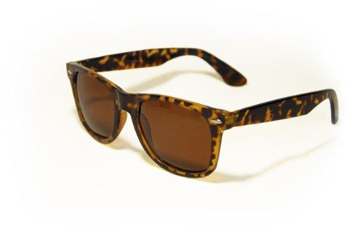 Large 55mm Polarized Lens Anti Glare Classic Horn Rimmed Style Sunglasses - Sunglasses Modo