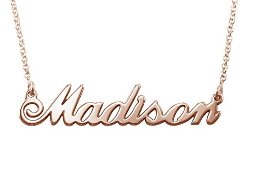 Rose Gold-Plated Personalized Name Necklace - Custom Made with Any Name! (Christmas Presents For Best Friend Girl)
