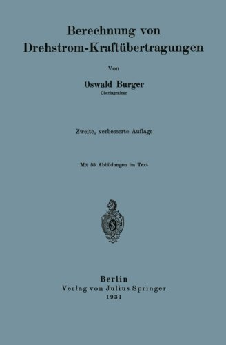 Berechnung von Drehstrom-Kraftbertragungen (German Edition)