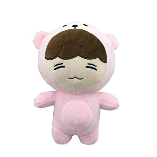 Coiny Bebe Korea New Kpop EXO Plush Doll Toys Stuffed Dolls Handmade Cartoon Chan Yeol Se Hun Su Ho D.O Xiumin Dolls Gift Girl Issing Pink Bear