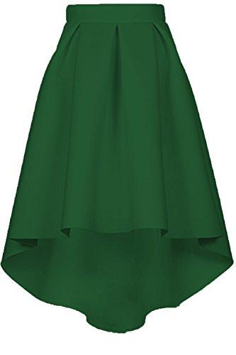 Couturebridal® Jupe Genou Vintage Haille Vert Elégante Au Haute Femme 8PXnNk0wO