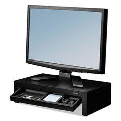 Fellowes Adjustable Monitor - FEL-8038101-X0 - Fellowes Adjustable Monitor Riser w/Storage Tray