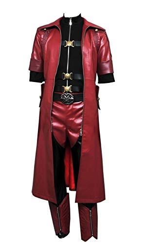 Wolfbar DMC Devil May Cry 4 Dante Coat Outfit Uniform Suit Halloween Cosplay Costume XXXL Red (Dmc Dante Coat)