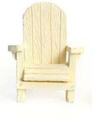 Woodland Knoll Mg93 Adirondack Chair Multiple Color Fairy Garden (White)
