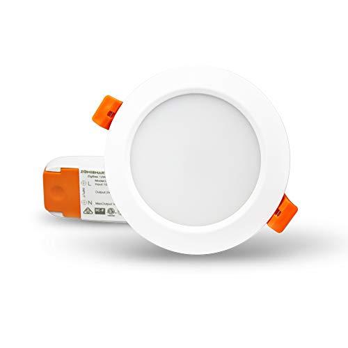 Zll ZigBee 3.0 inteligentes RGBW bombilla LED foco 12 W, φ10 cm luz trabajo con Amazon Alexa Eco Plus: Amazon.es: Iluminación