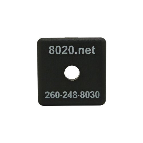80/20 Inc., 2030, 15 Series, 1515/ 1515-Lite End Cap, Black, with Push-Ins (5 Pack)