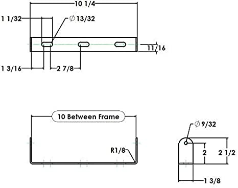 "Pack of 210/"" Long Roller and Bracket Set1.5/"" Diameter"