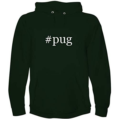The Town Butler #Pug - Men's Hoodie Sweatshirt, Forest, XXX-Large -