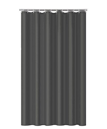 Home Queen Mold Resistant Shower Curtain,Anti-Mildew Heavy Duty Liner,Waterproof Bathroom Curtain Liner,72 W x 72 L Inches-Charcoal Grey