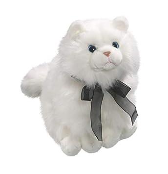 Carl Dick Peluche - Gato Blanco con Lazo Negro (Felpa, 30cm) [Juguete] 3357: Amazon.es: Juguetes y juegos
