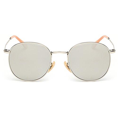 Vintage Sun Glasses for Women and Men Simple Round Mirrored Lens UV400 - Glasses Lensed Yellow