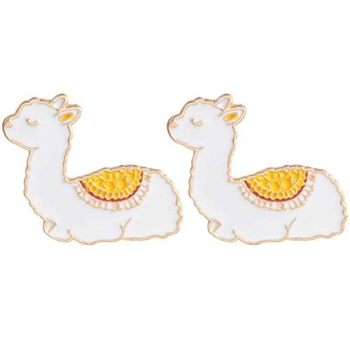 Charmart Baby Llama Lapel Pin 2 Piece Set Cute Camel Alpaca Enamel Brooch Pins Badge Gifts