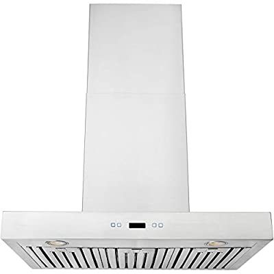 "DKB 30"" Kitchen Hood In Brushed Stainless Steel Wall Mounted With 600 CFM"