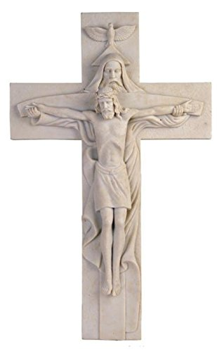 Jesus Cross Atrio with God Holy Religious Marble-Like Wall Decoration