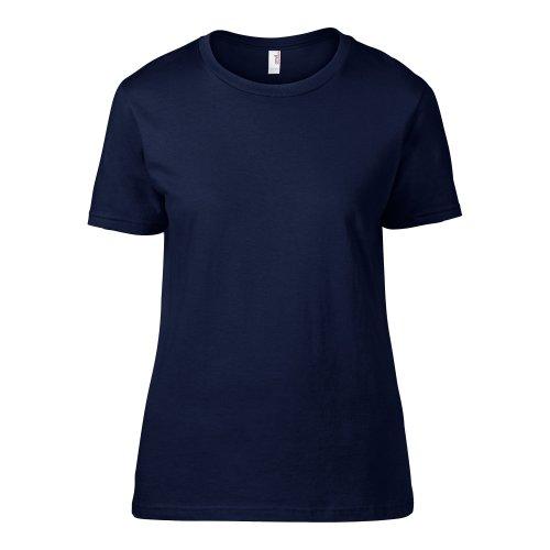 Anvil- Camiseta Fashion semi ajustada de manga corta para chica/mujer Azul marino