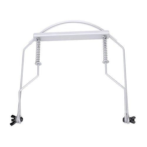 (Harmonica Neck Holder, Metal 10 Holes Hands Free Stand Holder Adjustable Rack Support Around Neck for Harmonica)
