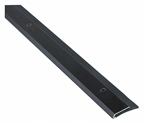 Single Fin Door Sweep, Dark Bronze Aluminum, 3 ft. Length, 1-1/8'' Flange Height, 1/2'' Insert Size by National Guard