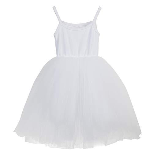 JNKLWPJS Baby Girls Tutu Dress Sleeveless Infant Toddler Princess Party Tulle Sundress A-White 12 Months