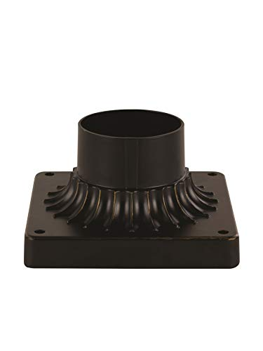 (Trans Globe Lighting 100 ROB 5-1/2-Inch Outdoor Square Pier Base, Rubbed Oil Bronze )