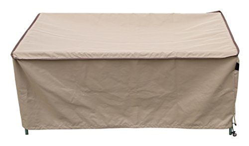 SORARA Rectangular Coffee/Side/End Table Cover Outdoor Porch Ottoman Table Cover, Water Resistant, 48″ L x 30″ W x 18″ H