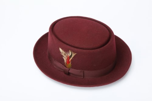 New Mens 100% Wool Brown Porkpie (Pork Pie) Hat for $<!--$89.99-->