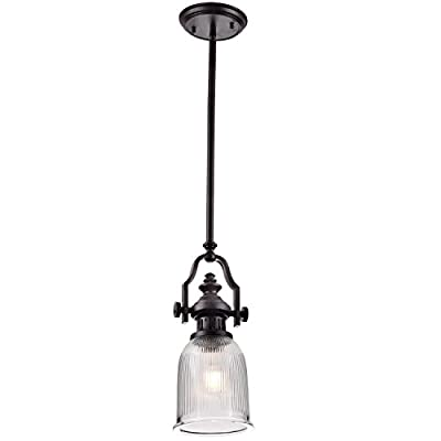 YOBO Lighting Vintage Oil Rubbed Bronze Chadwick Ceiling Glass Pendant Light