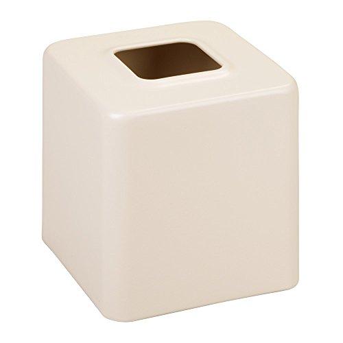 - InterDesign Facial Tissue Cover/Holder for Bathroom Vanity Countertops-Matte Vanilla Gia Boutique Box,