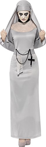 [Smiffy's Women's Gothic Nun Costume, Dress and Headpiece, Legends of Evil, Halloween, Size 14-16,] (Alien Costume Woman)