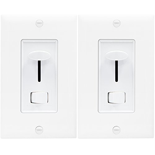 Light Switch Dimmer LED by Enerlites 59302 3 Way Dimmer Switch, In Wall Dimmer Switch, Multi Location Dimmer for Dimmable CFL, LED, Incandescent, Halogen Lights, White - 2 Pack)