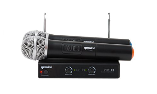 Professional Vhf Wireless Handheld Microphone (Gemini VHF Series VHF-02M Professional Audio DJ Equimpent Superior Dual Channel Wireless VHF System and Handheld Microphones (Set of 2) with 100ft Opereating Range)