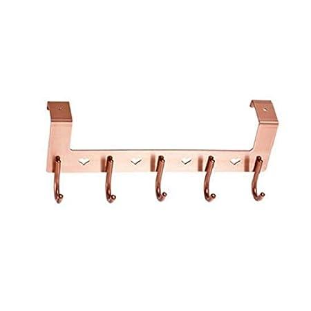 GZQ Over Door Hook Hanger Reversible Cupboard Drawer Heavy-duty Storage for Office Kitchen Coat, Towel, Bag, Robe (Gold) ZQEU