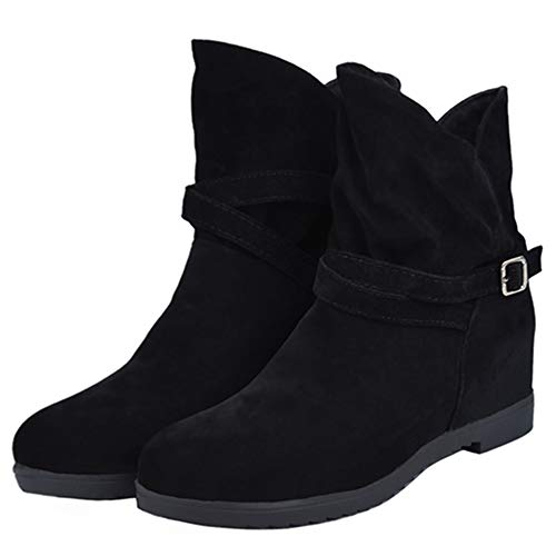 Available SJJH and 4 with Fashion Colors Women Boots Nubuck Size Large Flat Boots Black Ankle wxvSnwT