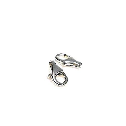 Bijoux de remplacement 925m Mousqueton argent droit circulaire - 1 unité [AB0818]