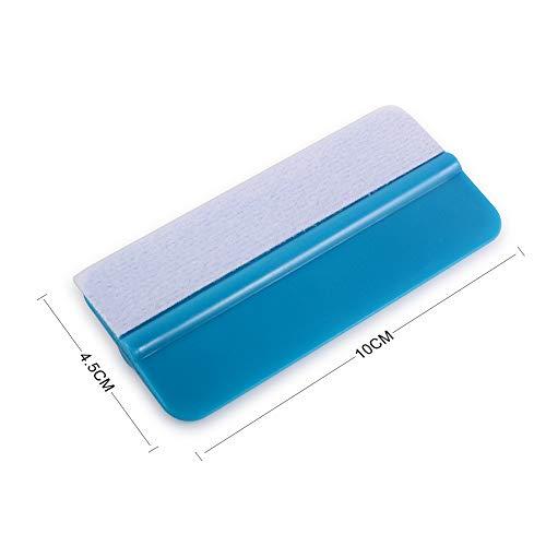 WINJUN 10 Pack Vinyl Squeegee Plastic Scraper Felt Edge Tint Film Tool Wrap Tools Wallpaper Tool Scratch Free