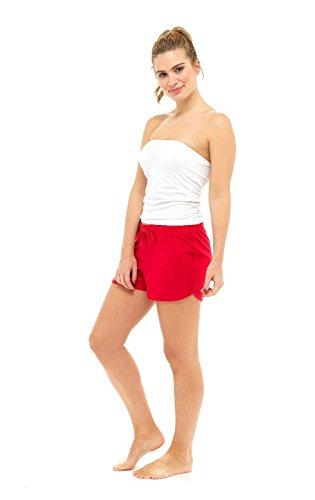 Spiaggia Red Estivi 8 Da Pantaloncini Numeri Donna Misto Uk Cotone 22 Lounge SqPwSYAt