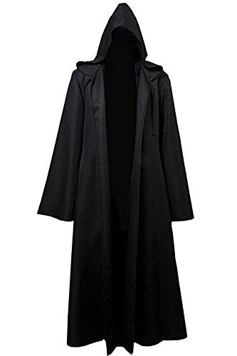 Red Dot Boutique 8019 - JEDI STAR WARS Wizard Monk Adult Costume Cloak Robe (2) M, Black)]()