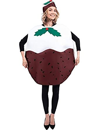 Adult Christmas Pudding Xmas Party Funny Fancy Dress Costume - Adult Christmas Pudding Xmas Party Funny Fancy Dress Costume: Amazon