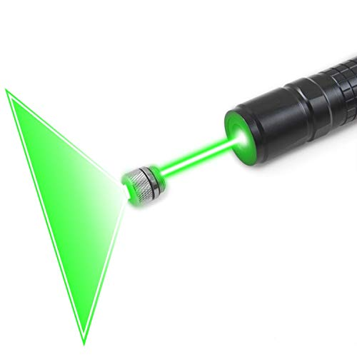 FreeMascot Handheld 532 NM Green Light Focusable Flashlight with Gift Star Patterns Head Best for Hunting, Astronomy (Black) 532 Nm Green Laser