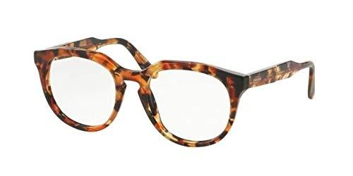 Prada Eyeglasses VPR 13S UBM-1O1 Brown Orange Havana 50mm ()
