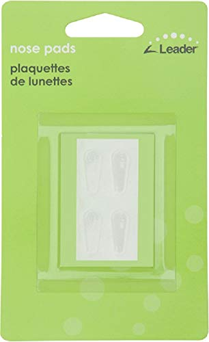 Leader Nose Pads Temple Eyewear Comfort Self-Stick Silicon Large 4ct Clear 17mm