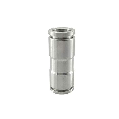 - Metalwork 304 Stainless Steel Push to Connect Air Fitting, Straight Union (14mm Tube OD, Pack of 5)