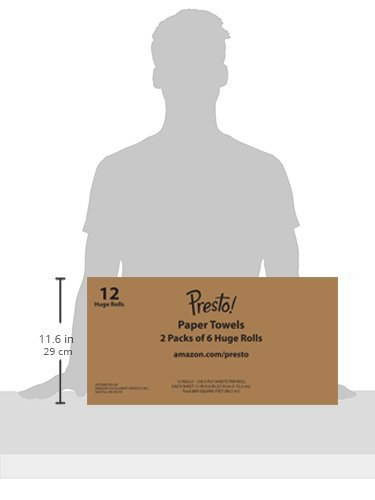Amazon Brand - Presto! Flex-a-Size Paper Towels, Huge Roll, 12 Count = 30 Regular Rolls by Presto! (Image #9)