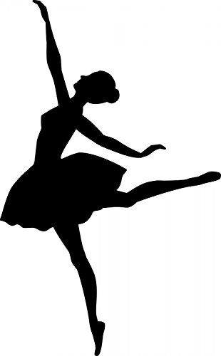 Leisure Wall Decals Dancing - 24 inches x 15 inches - Peel and Stick Removable Graphic