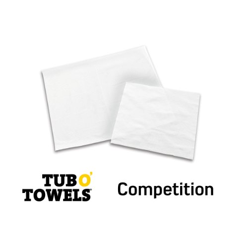 "Tub O Towels TW90 Heavy-Duty 10"" x 12"" Size Multi-Surface Cleaning Wipes, 90 Count Per Canister"