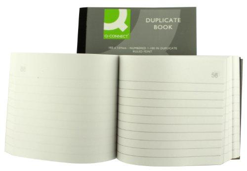 (Q Connect 4x5-inche Ruled Feint Duplicate Book)
