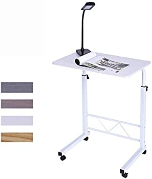 UAMSISTE Solid-Top Height Adjustable Wooden Mobile Laptop Desk
