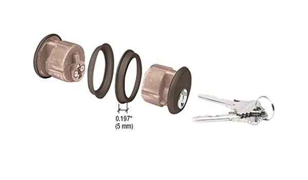 "Keyed Alike CRL Dark Bronze Rim Keyed Cylinder Schlage /""C/"" Keyway"